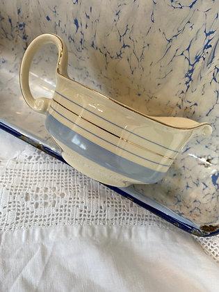 Woods Ivory Ware Cream & Blue Jug