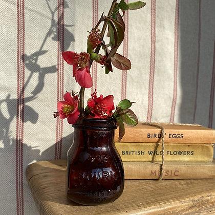 Vintage Bovril 4oz Glass Jar