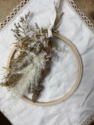 The Ethel @wilt_studio Forever Flowers Embroidery Hoop Wreath
