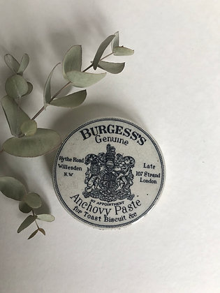Burgess's Victorian Genuine Anchovy Paste Lid
