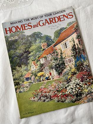 Vintage 1933 Homes & Gardens Magazine