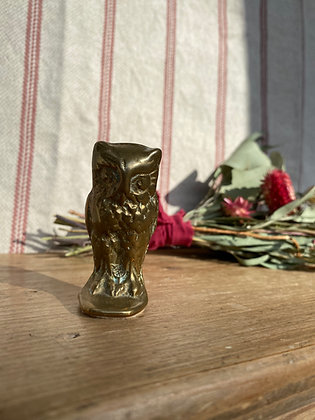 Wise Brass Owl