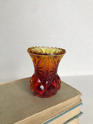 Miniature Amber Vase