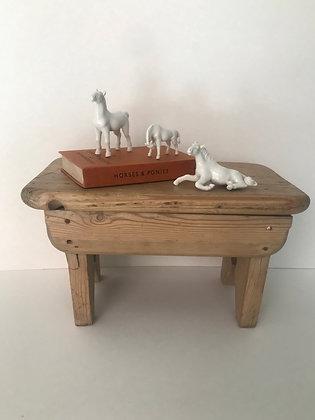 Vintage Porcelain Horse Figure Trio
