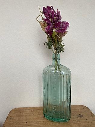 Light Blue Vintage Poison Bottle