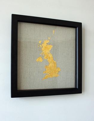 United Kingdom Gold Leaf map