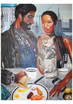 London couple breakfast