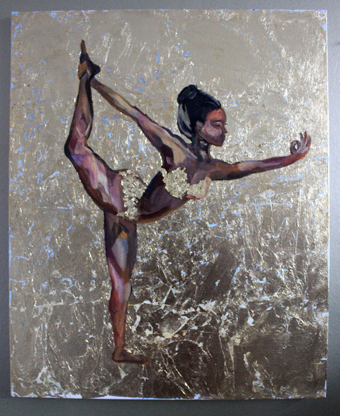 Yoga - Natarajasana - Lord of the Dance Pose - Gold Leaf