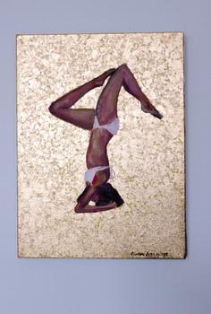Yoga - Headstand (salamba sirsasana) Pose - Gold Leaf and Oil