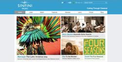 Sinfini Music homepage
