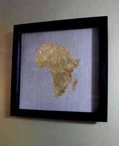 Africa Gold Leaf Map