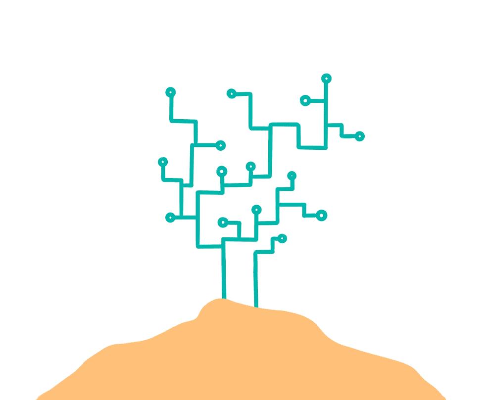 En la imagen se ve que el tercer paso para la transformación digital es obtener muchos beneficios para la empresa. Recoge los frutos de tu transformación.