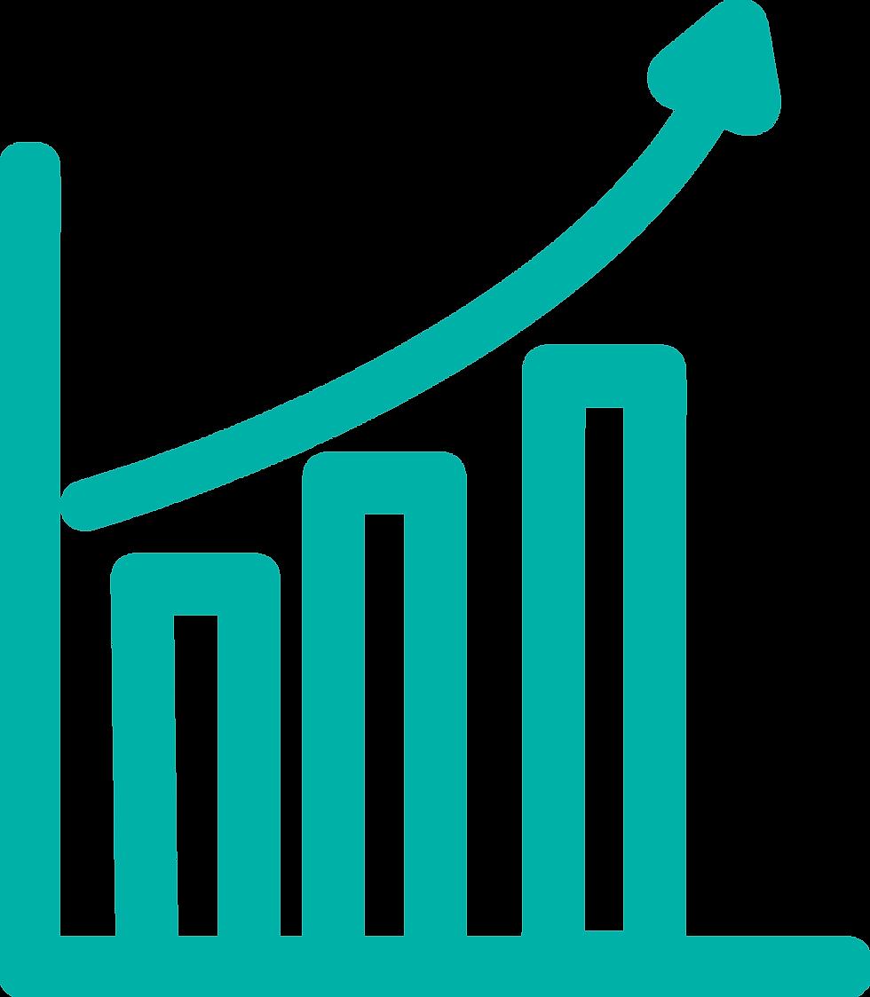 En esta imagen podemos ver el gráfico del aumento de datos activos que se obtienen con Prosei