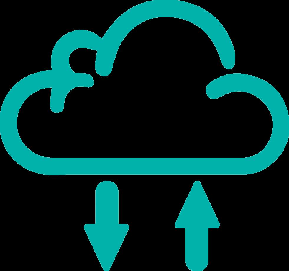 La nube representa la migración con la que logramos conectar a nuestros clientes y a la vez proteger los datos.