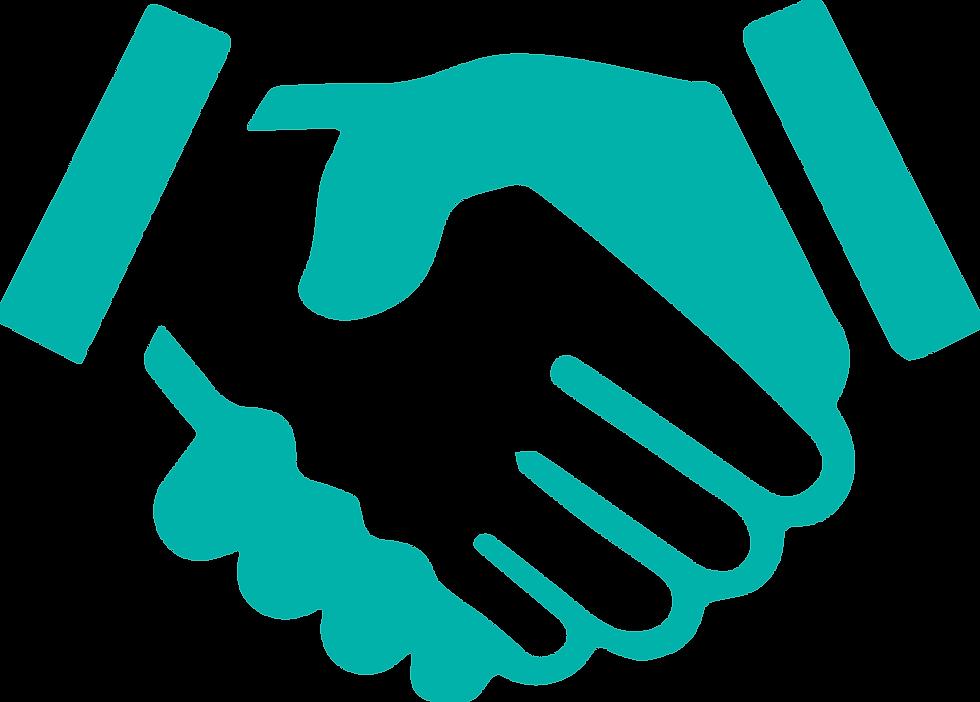Las manos representan la firma del acuerdo con el cliente para darles las mejores soluciones.