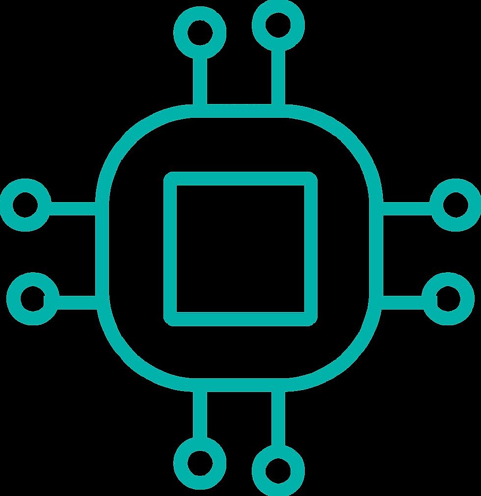 El chip con nodos representa el proceso de digitalización por el cual pasan los clientes de Prosei en su transformación.