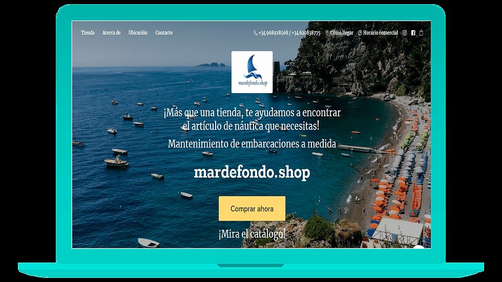 La web de Mardefondo.shop en versión ordenador