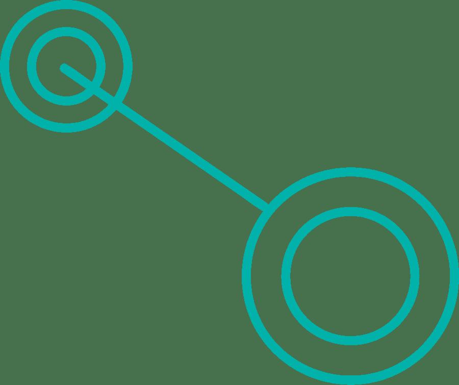 Detrás de cada proceso de digitalización hay un esfuerzo, esto lo representamos con una pesa cuyos extremos son nodos.