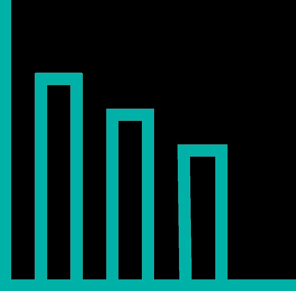 El gráfico representa la cantidad de datos que se pueden obtener con la digitalización de un negocio. Como resultado las empresas obtienen mayores beneficios.