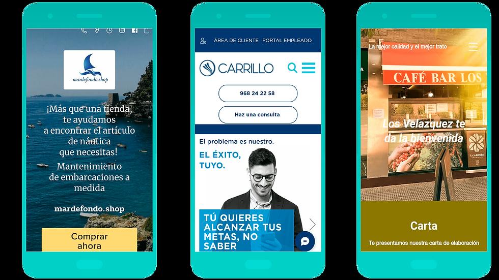La web de Carrillo Asesores Tributarios y Abogados en  versión móvil