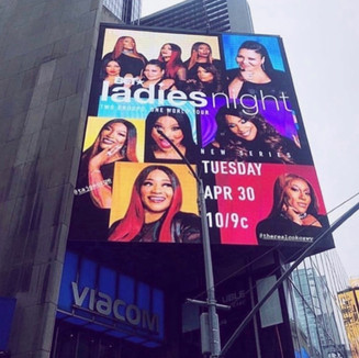 BET's Ladies Night Billboard in Times Square