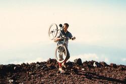 Climbing Mt.Fuji by mountainbike