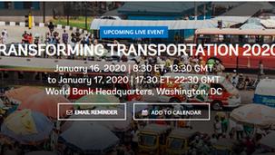 Transports: Suivez en direct TRANSFORMING TRANSPORTATION 2020 du 16 au 17 janvier