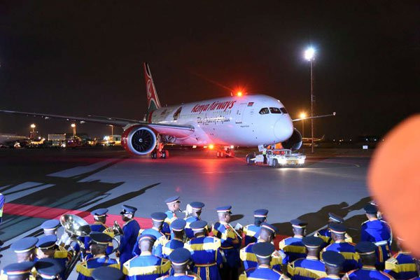 Image illustrative: 1er vol de Kenya Airways aux USA  Source : africanshapers.com