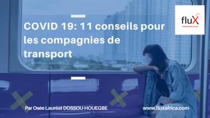 COVID-19: 11 conseils pratiques pour les compagnies de transport
