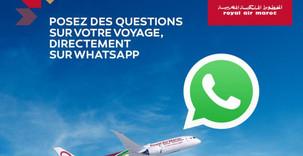 Transport aérien: Royal Air Maroc lance son chabot WhatsApp, une première en Afrique