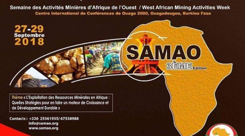 Visuel SAMOA  Semaine des Activités Minières Ouest Africaine (SAMOA)