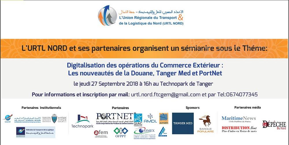 Visuel Séminaire sur la,digitalisation du commerce extérieur Maroc