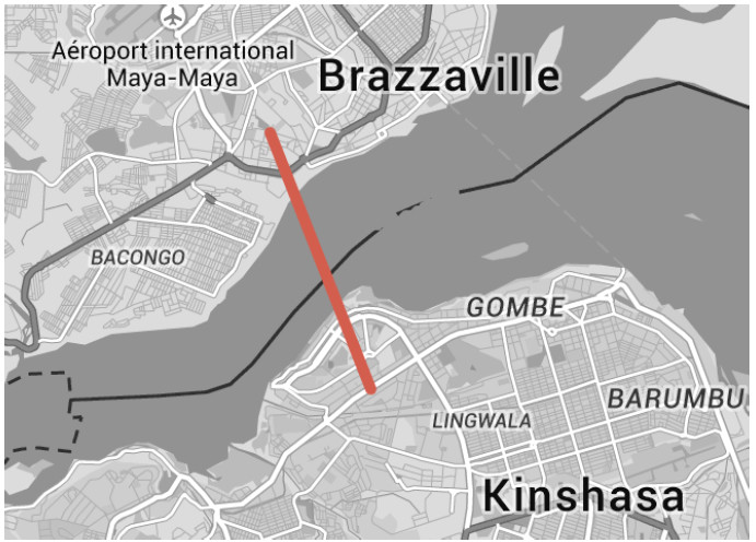 Plan pont Brazza -Kinshasa / Source Private Sector Investment Conference, 24 - 25 February 2015 .