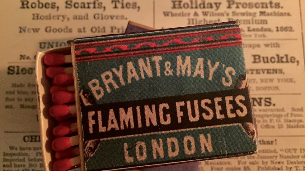 Victorian Matches - Bryant & May Flaming Fusees