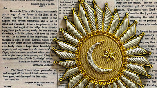 Imperial Order of the Crescent -Ottoman Embroidered Star, Admiral Nelson