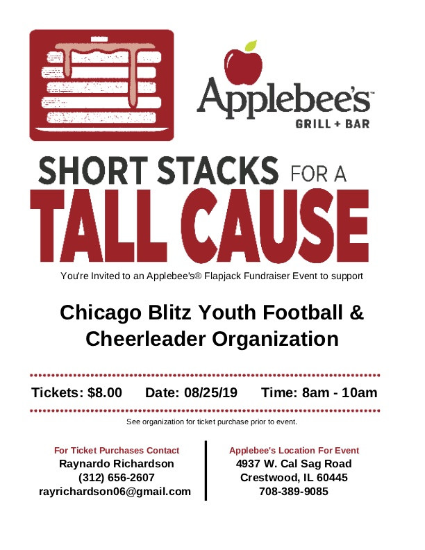 Bring Family and Friends to Applebee's for breakfast for a good cause.