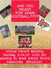 Virtual Parent Meeting Sunday March 14th 3 p.m.