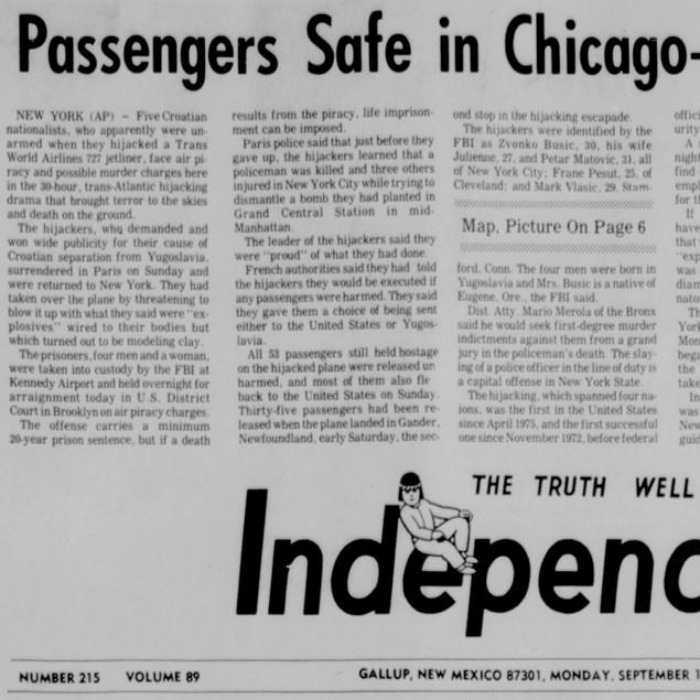 Five Held, 88 Passengers Safe