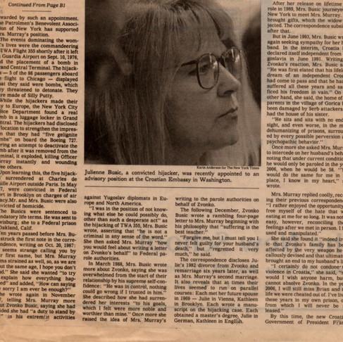 Julie Busic wife/hijacker