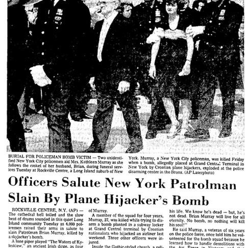 Officers Salute New York Patrolmen