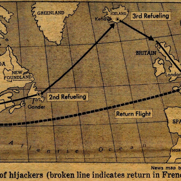 Route of the Hijackers