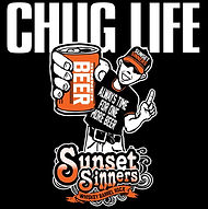 Sunset Sinners Chug Life T-Shirt