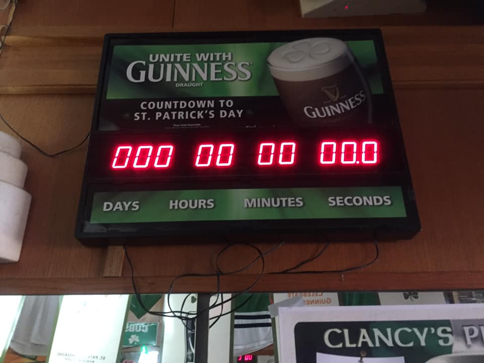 Countdown to St. Paddy's Day