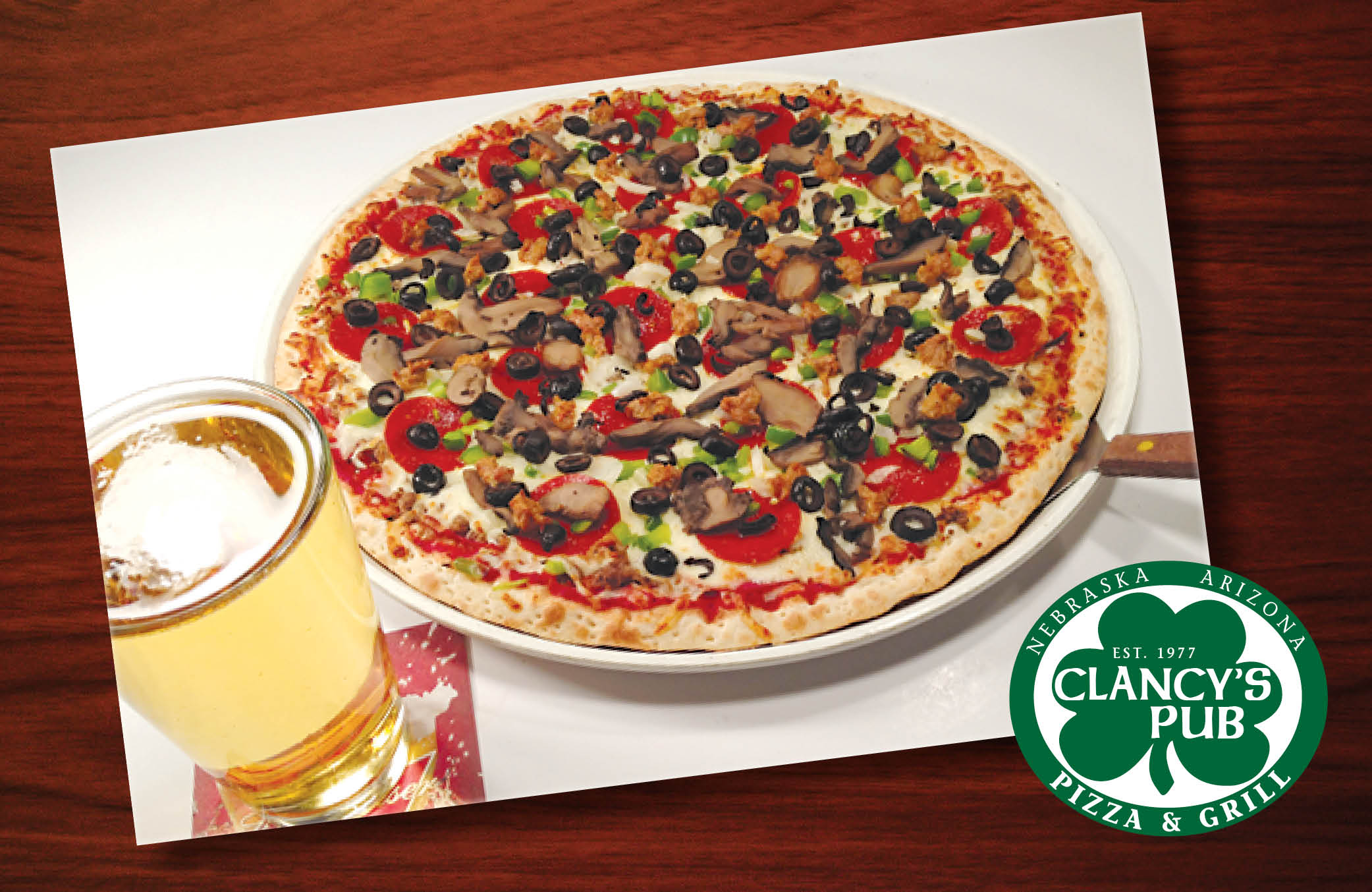 Thin-Crust Pizza and Cold Beer