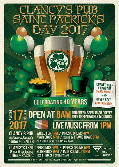 Clancy's Pub 2017 St. Patrick's Day Party