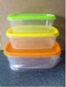 3pc Plastic Bowl Set