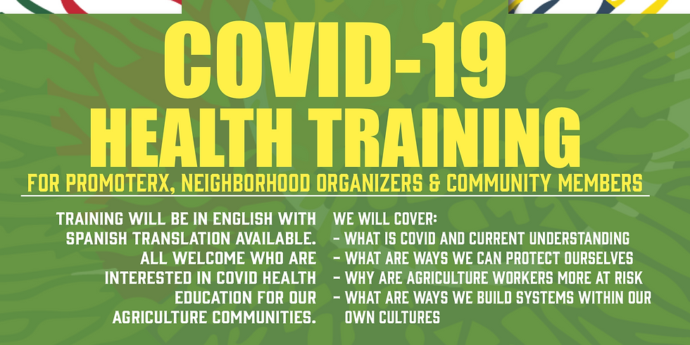 COVID 19 Health Training for Promoterx and Neighborhood Organizers 3