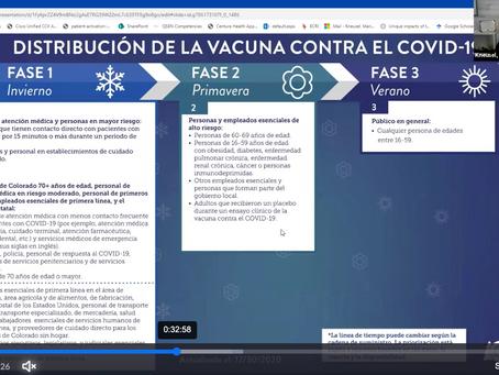 Entrenamiento de salud COVID-19 EQUIDAD DE VACUNAS / PPPN COVID 19 Health Training: VACCINE EQUITY