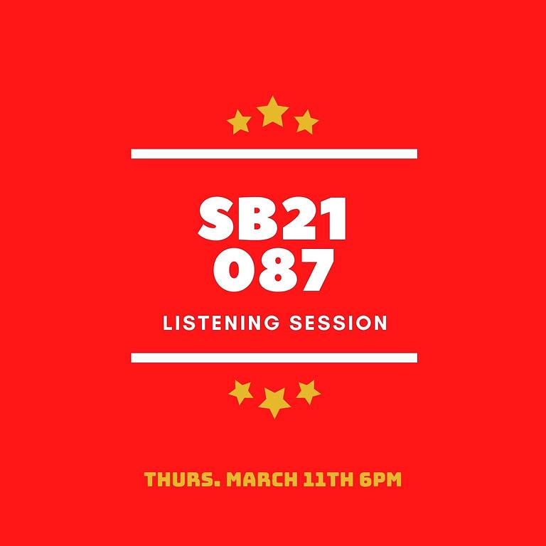 SB 21 087 Community Listening Session