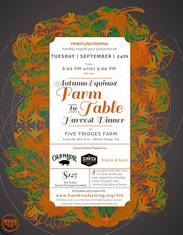 Autumn Harvest Farm to Table (Meat/Dairy Option)